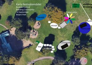 Karta över festivalområdet